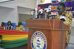 Hon. Transport Min. Kweku Ofori Asiamah delivering address