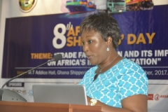 Mrs Esther Gyebi Donkor, GM-Marketing & PR, GPHA delivering a paper