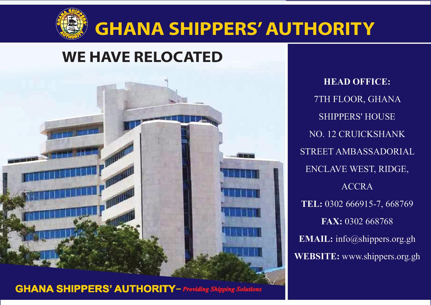 Notice of Office Relocation - Ghana Shippers Authority
