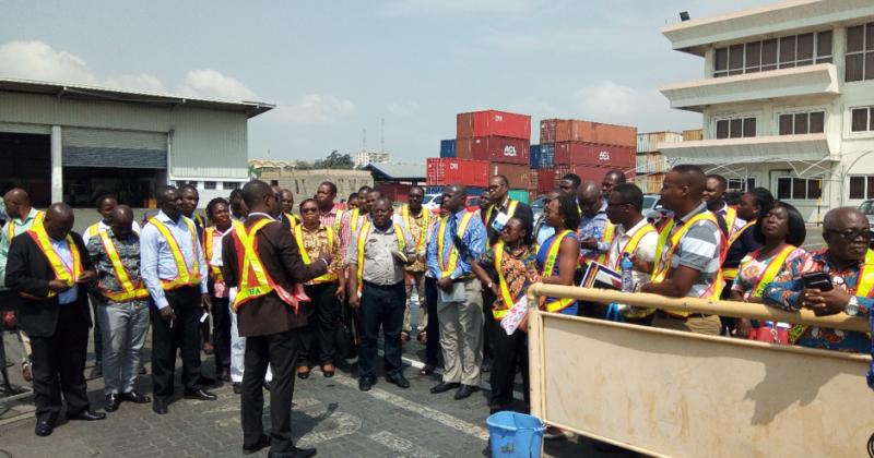 Members of GARSC Embark on Tour of Tema Port
